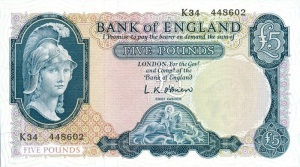 Series B five pound note front