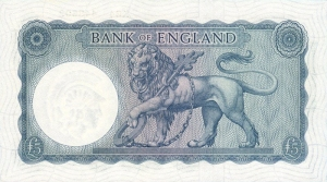series b five pound note back