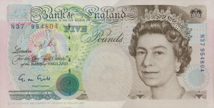 series e version one five pound note front