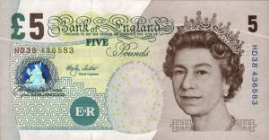 series e version three five pound note front
