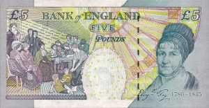 series e version three five pound note back