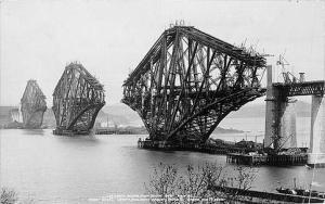 Forth Bridge under construction circa 1988