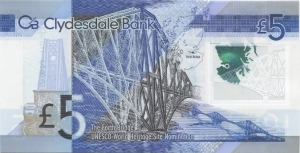 Scottish Polymer 5 pound note back
