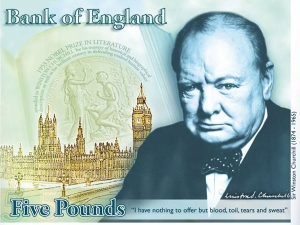 winston churchill concept five pound note
