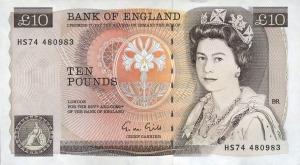 Year 1975 series d ten pound note front