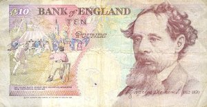 Year 1993 ten pound note reverse