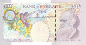 year 2000 ten pound note re-design reverse