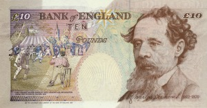 Year 1993 series e ten pound note revision reverse